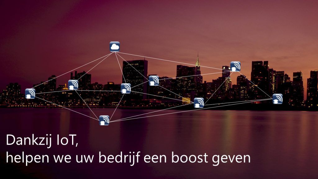 Foto van slider. Thanks to IoT, we ll help you boost your buisness.
