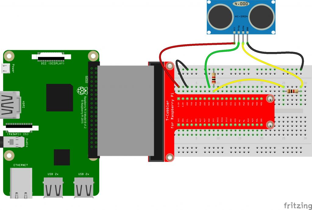 HC-SR04 ultrasone sensor aansluiten op Raspberry Pi