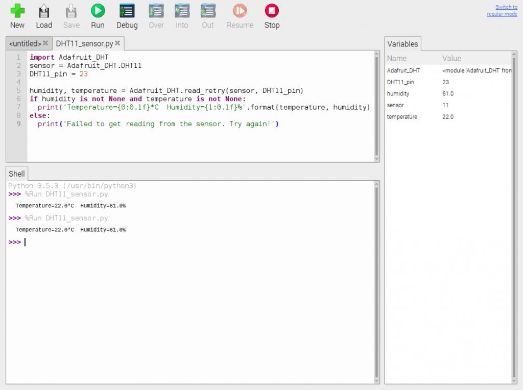 DHT11 Python script