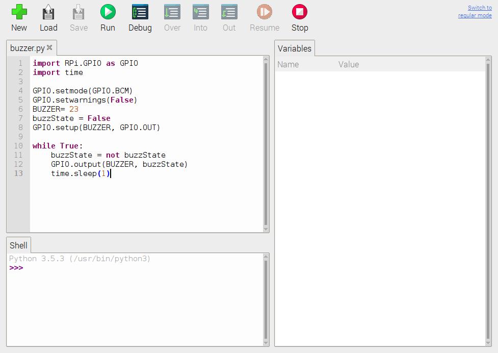 Python script buzzer